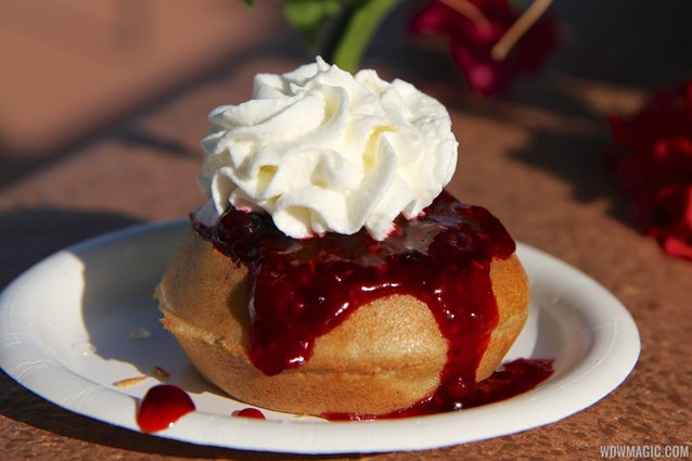 Epcot International Food and Wine Festival - Belgium - Belgian Waffle with Berry Compote and Whipped Cream