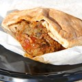 International Food and Wine Festival - Morocco - Kefta Pocket (Ground Seasoned Beef in a Pita Pocket) 