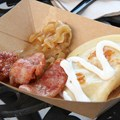 International Food and Wine Festival - Poland - Kielbasa & Potato Pierogie with Caramelized Onions and Sour Cream