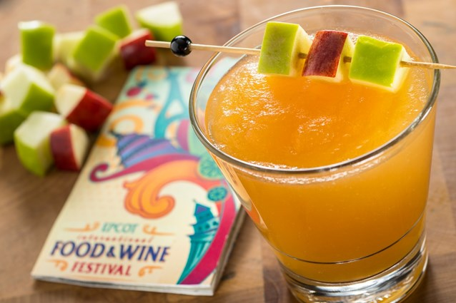 Epcot International Food and Wine Festival - Poland Marketplace 2013 - Frozen Szarlotka created with Zubrowka, the popular Polish Bison Grass Vodka, and apple cider