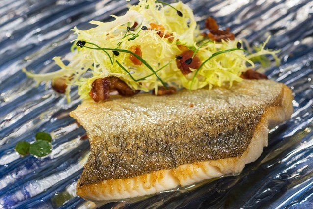Epcot International Food and Wine Festival - Canada Marketplace 2013 - Seared Trout with Frisee, Bacon and Maple Minus 8 Vinaigrette