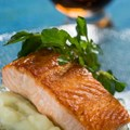 Epcot International Food and Wine Festival - Scotland 2013 - Seared Scottish Salmon with Cauliflower Puree, Watercress and Malt Vinaigrette