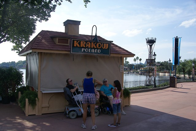 Epcot International Food and Wine Festival - Kielbasa and Potato Pierogie with Caramelized Onions and Sour Cream