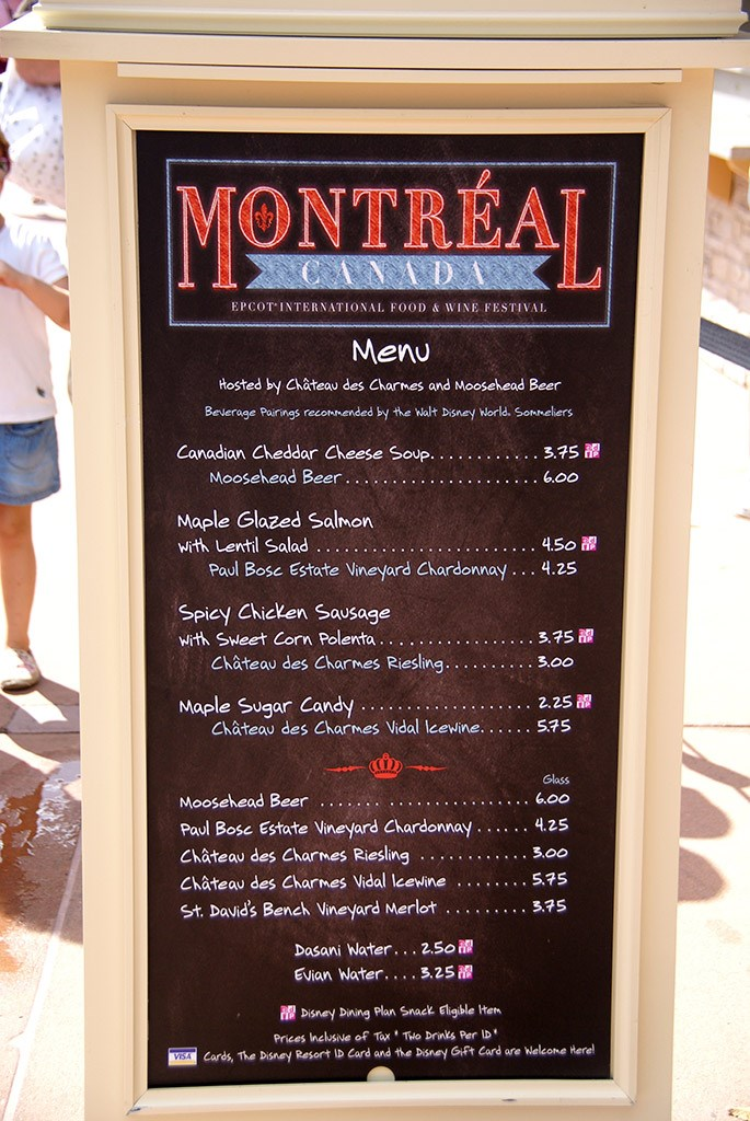 2009 International Food and Wine Festival menus and pricing