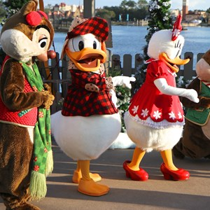 8 of 11: Limited Time Magic - Limited Time Magic - Winter Wonderland character meet and greet at Epcot's Canada Pavilion