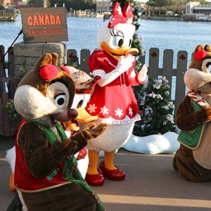 9 of 11: Limited Time Magic - Limited Time Magic - Winter Wonderland character meet and greet at Epcot's Canada Pavilion