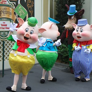 2 of 12: Limited Time Magic - Limited Time Magic - Long-lost Disney friends - Three Little Pigs and the Big Bad Wolf