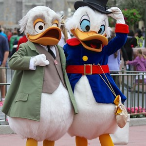 8 of 12: Limited Time Magic - Limited Time Magic - Long-lost Disney friends - Ludwig Von Drake and Scrooge McDuck