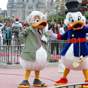 9 of 12: Limited Time Magic - Limited Time Magic - Long-lost Disney friends - Ludwig Von Drake and Scrooge McDuck