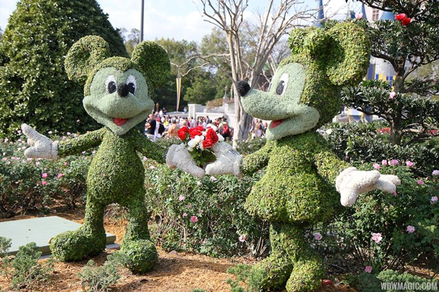 Limited Time Magic - Limited Time Magic True Love week - Mickey and Minnie Rose topiary