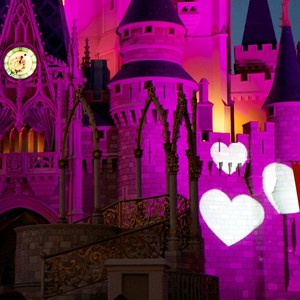 11 of 12: Limited Time Magic - Limited Time Magic True Love week - Cinderella Castle heart projections