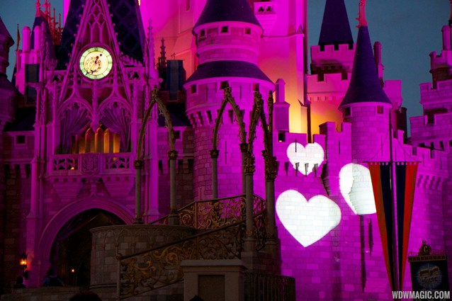 Limited Time Magic - Limited Time Magic True Love week - Cinderella Castle heart projections