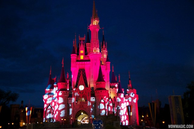Limited Time Magic - Limited Time Magic True Love week - Cinderella Castle blushing light effect