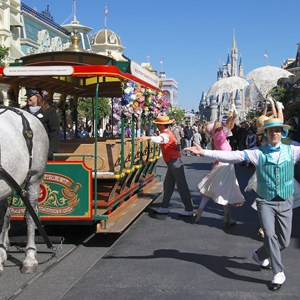5 of 9: Limited Time Magic - Limited Time Magic's Spring Trolley Show - Main Street USA stop