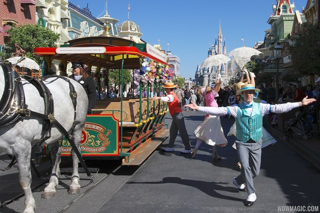 Limited Time Magic - Limited Time Magic's Spring Trolley Show - Main Street USA stop