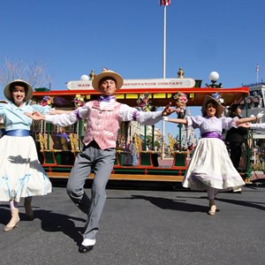 7 of 9: Limited Time Magic - Limited Time Magic's Spring Trolley Show - Train Station stop