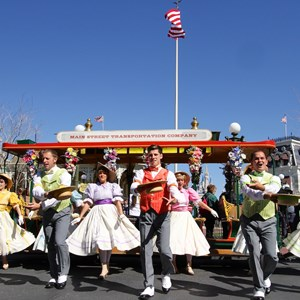 8 of 9: Limited Time Magic - Limited Time Magic's Spring Trolley Show - Train Station stop