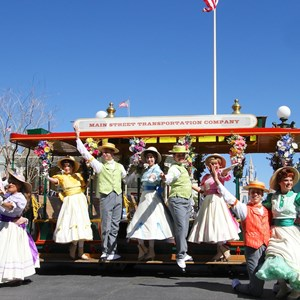 9 of 9: Limited Time Magic - Limited Time Magic's Spring Trolley Show - Train Station stop