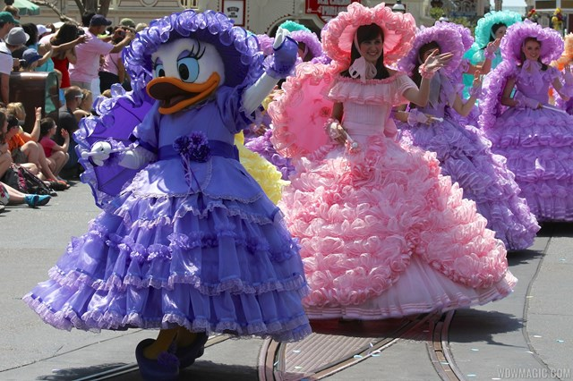 2013 Magic Kingdom Easter pre-parade with the Azalea Trail Maids