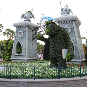 2 of 17: Limited Time Magic - Monsters University Homecoming - Park entrance topiary