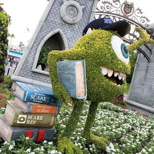 5 of 17: Limited Time Magic - Monsters University Homecoming - Park entrance topiary