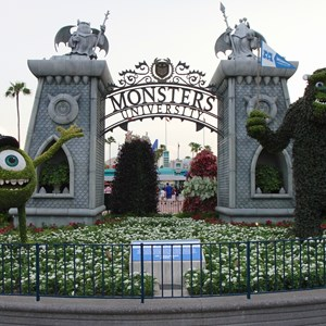 1 of 17: Limited Time Magic - Monsters University Homecoming - Park entrance topiary