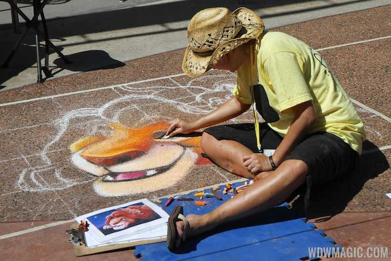 Disney Chalk Art Festival at Downtown Disney