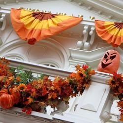 Halloween decorations installation 2011