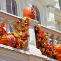 Mickey's Not-So-Scary Halloween Party - Magic Kingdom's 2013 Halloween decorations - Pumpkin decoration closeup