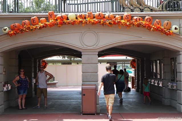 Mickey's Not-So-Scary Halloween Party - Magic Kingdom's 2013 Halloween decorations - See Ya Real Soon sign