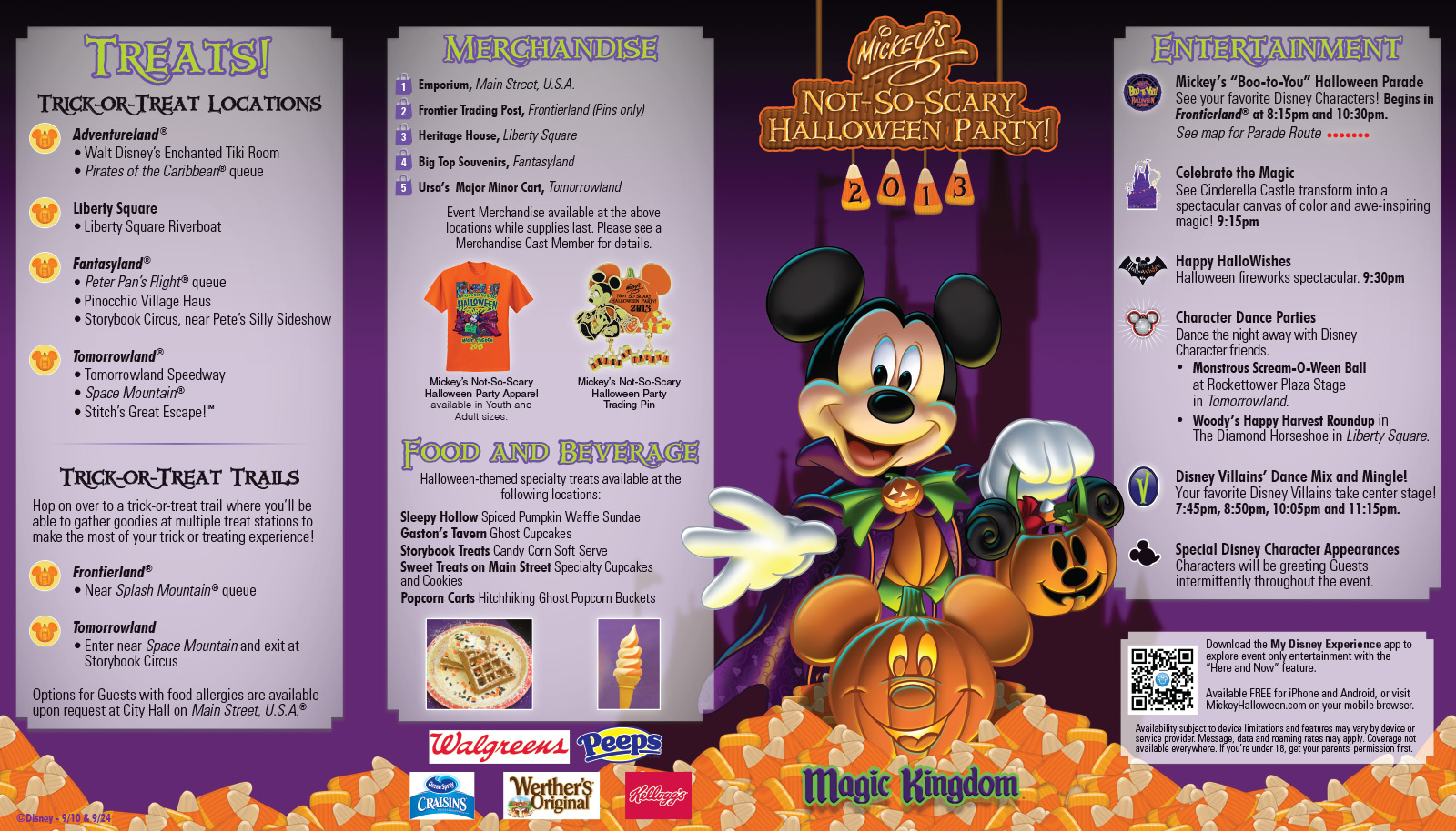 Mickey's Not-So-Scary Halloween Party guide map and schedule now ...