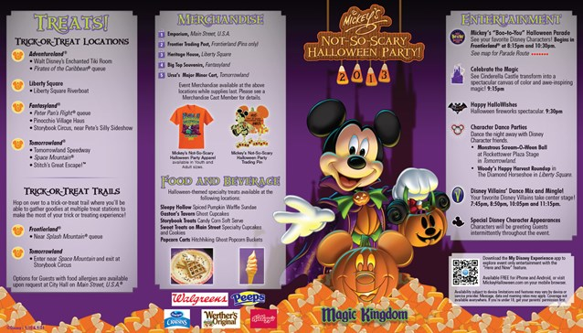 Mickey's Not-So-Scary Halloween Party - Mickey's Not-So-Scary Halloween Party guide map 2013 - Page 1