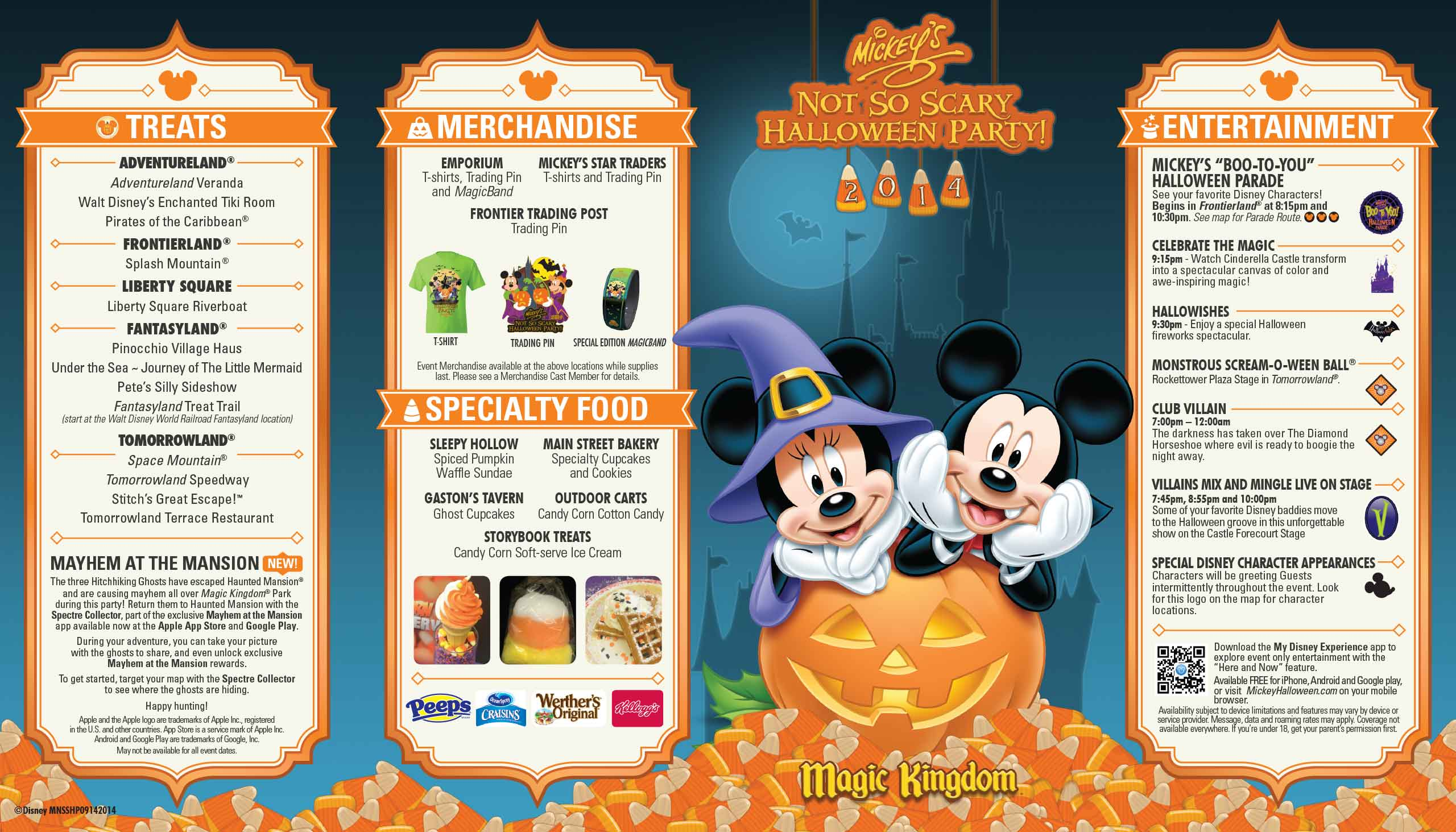 mickeys not so scary halloween party guide map 2014 photo 1 of 2 - Disneys Not So Scary Halloween Party