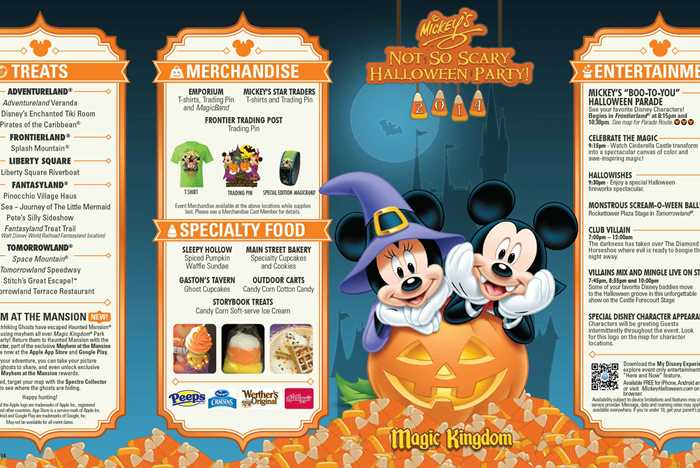 Mickey's Not-So-Scary Halloween Party guide map 2014