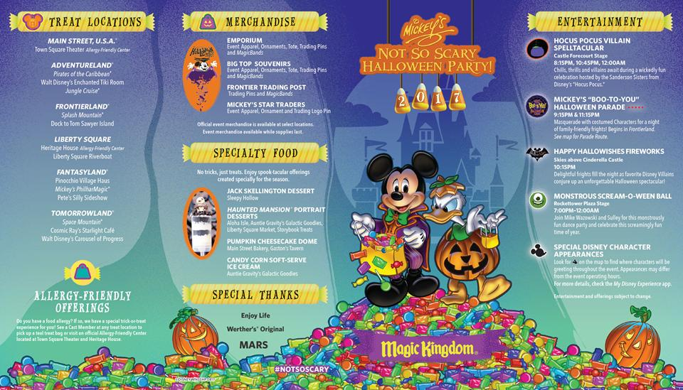 mickeys not so scary halloween party 2017 guide map - Article About Halloween