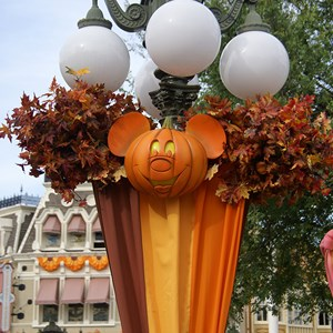 18 of 18: Mickey's Not-So-Scary Halloween Party - Halloween decorations installation