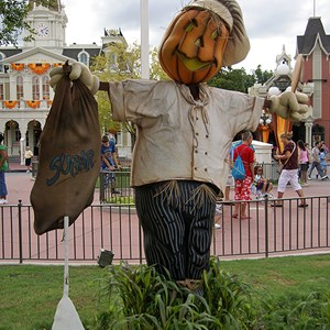 11 of 18: Mickey's Not-So-Scary Halloween Party - Halloween decorations installation