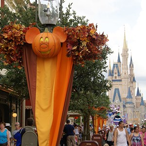 14 of 18: Mickey's Not-So-Scary Halloween Party - Halloween decorations installation
