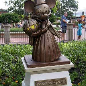 1 of 4: Mickey's Not-So-Scary Halloween Party - New hub statues