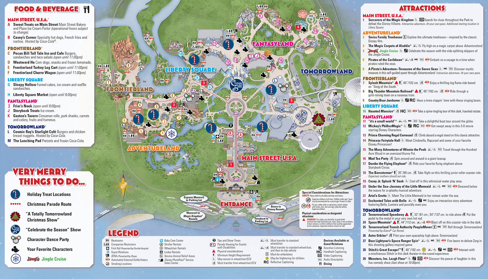 Mickey's Very Merry Christmas Party 2013 guide map - Photo 2 of 2