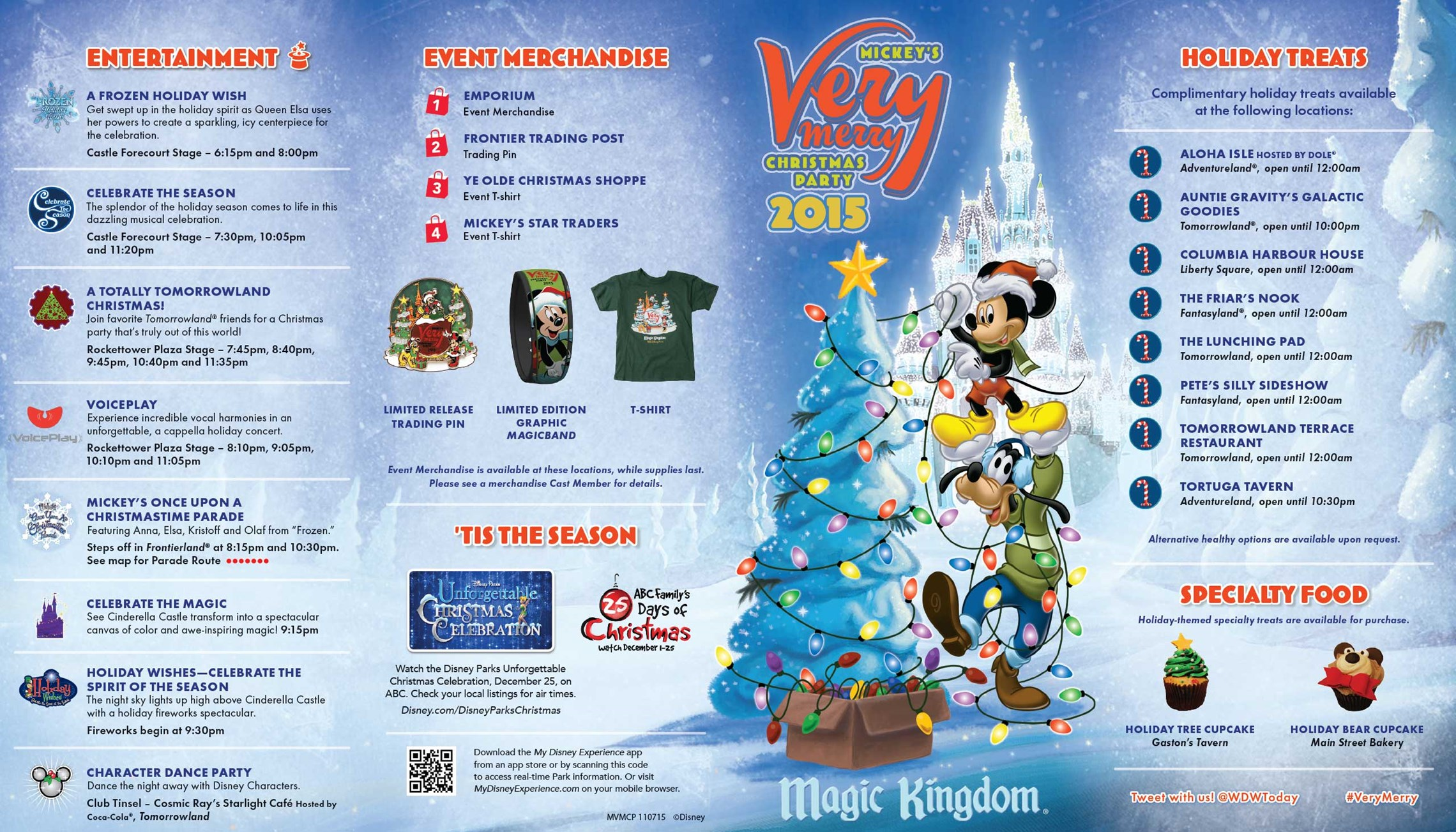 Nov 07 2015 Mickeys Very Merry Christmas Party 2015 guide map SBtIgWJn