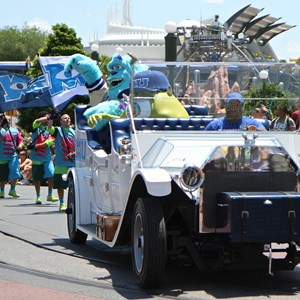 3 of 9: Monstrous Summer - Monstrous Summer pre-parade grand marshals car