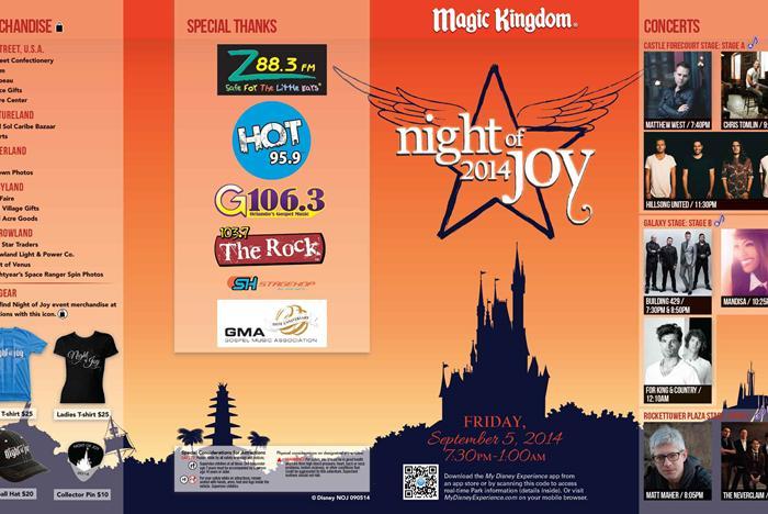 Night of Joy 2014 Guide Maps