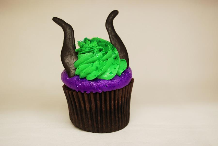 Rock Your Disney Side snacks - Maleficent Cupcake
