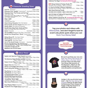 2 of 2: Rock Your Disney Side 24 Hours - Rock Your Disney Side 24 hour event times guide - back
