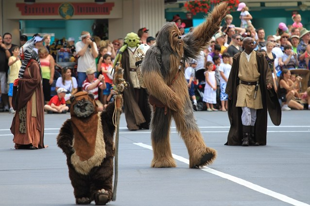 Star Wars Weekends - Chewbacca, Ewok, Mace Windu