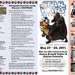 2011 Star Wars Weekends May 27-29 guide map