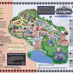 2011 Star Wars Weekends June 3-5 guide map
