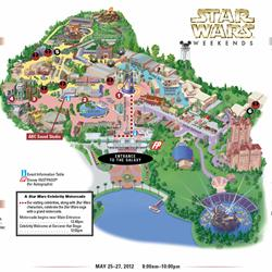 2012 Star Wars Weekends May 25-27 guide map