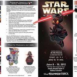 2012 Star Wars Weekends June 8 - June 10 guide map